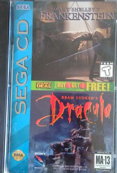 Mary Shelley's Frankenstein / Bram Stoker's Dracula (Sega CD Doble)