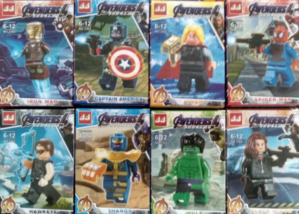 Figuras Avengers 4 – End Game Tipo Lego