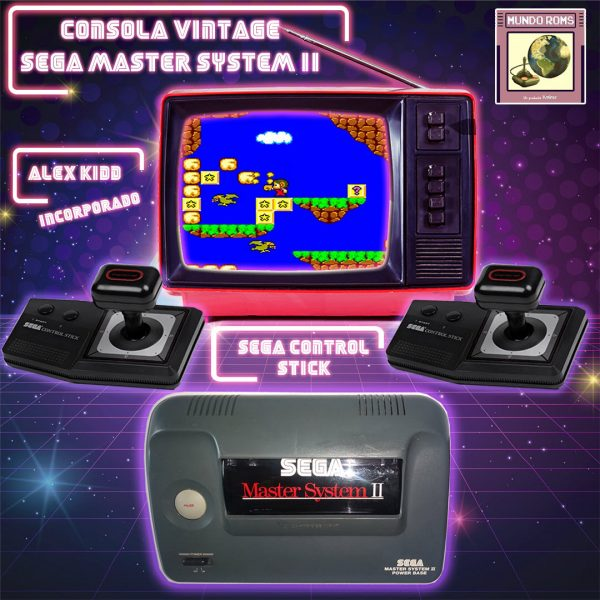 Master System 2 + 2 Sega Control Stick + Alex Kidd