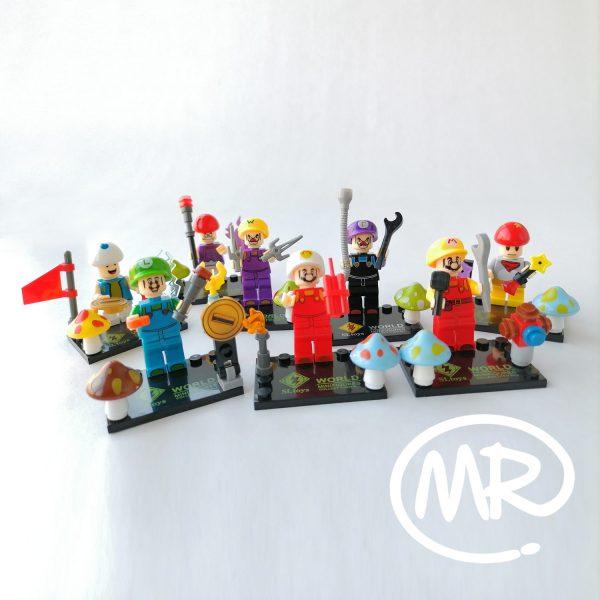 Colección Super Mario Blocks tipo Lego 8 figuras