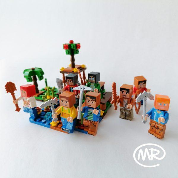 Cofre Mundo Minecraft tipo Lego