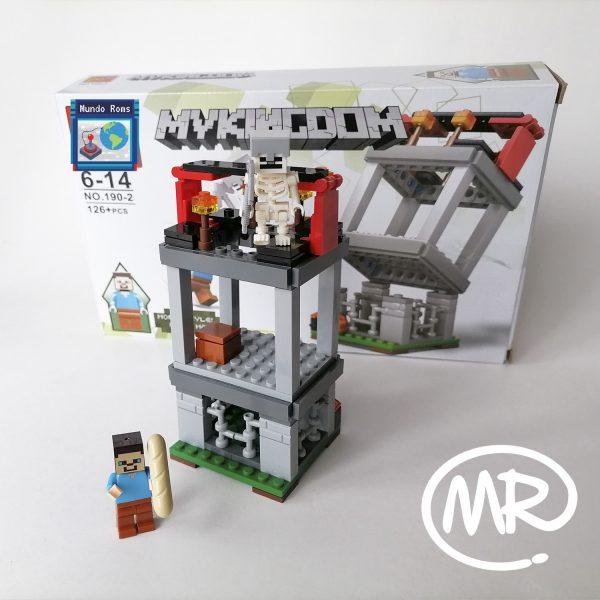 Torre Minecraft tipo Lego 125 piezas